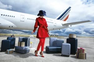 corporate air france image for plane