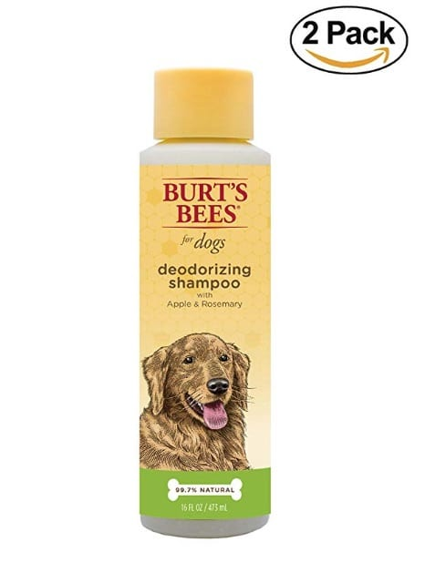 Burt's Bees deodorizing dog shampoo, available on Amazon