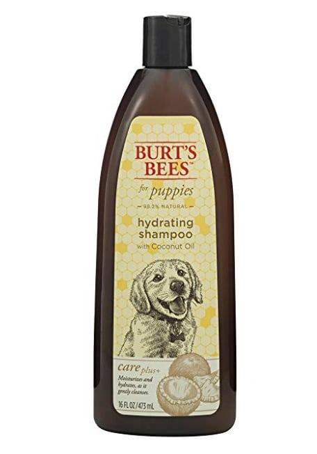 Burt's Bees hydrating puppy shampoo with coconut oil, available on Amazon