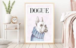 Dog Mom Dog Dad Gift Etsy original art print