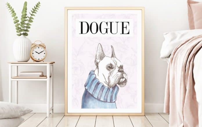 Dog Mom Dog Dad Gift Etsy original art print