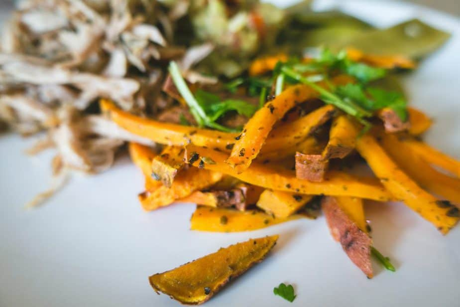 sweet potatoes sliced and cooked